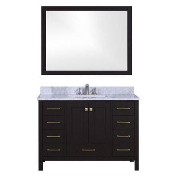 Legion Furniture Legion Furniture Single Vanity With Mirror Set, Espresso, 48