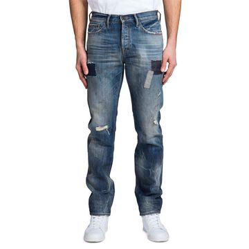 Men's Repaired Demon-Patched Relaxed Jeans