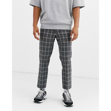 Noak check pants in gray-Pink