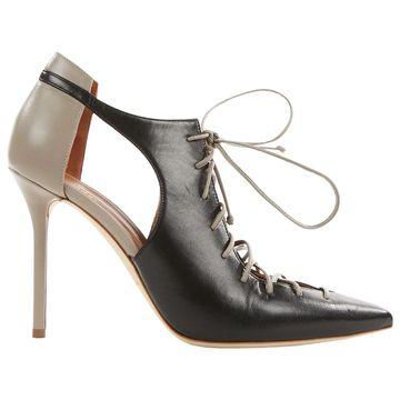 Malone Souliers Black Leather Heels