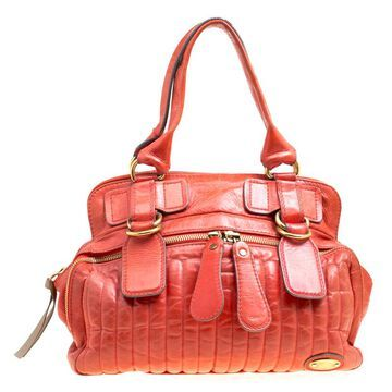 Chloe Red Leather Satchel