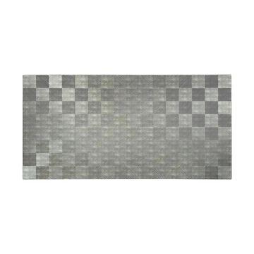 Fasade Quattro Crosshatch Silver Wall Panel (4' x 8')