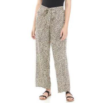 Rafaella Women's Tanzania Texture Pull On Belted Pants -