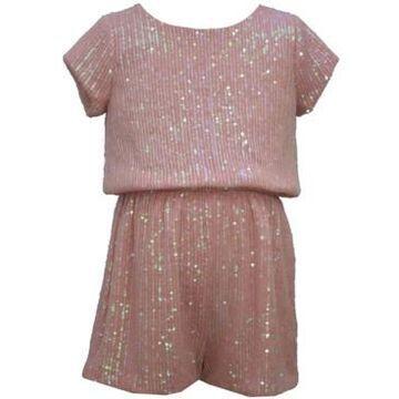 Bonnie Jean Little Girl Sequin Short Romper