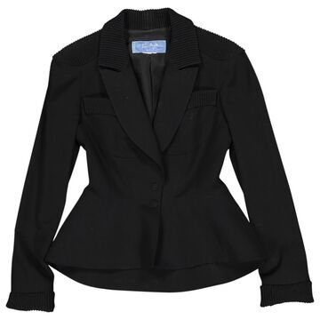 Thierry Mugler Black Wool Jackets