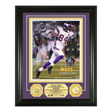 "Highland Mint Randy Moss Minnesota Vikings 2018 Pro Football Hall of Fame Induction 13"" x 16"" Bronze Coin Photo Mint"
