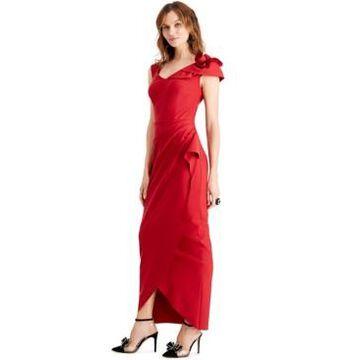 Alex Evenings Floral-Shoulder Gown