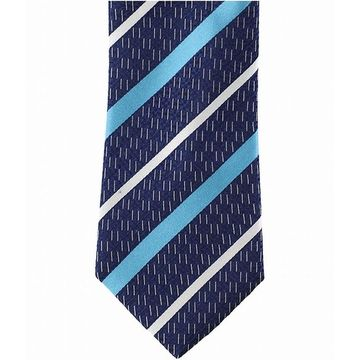 Sean John Navy Blue Men's One Size Dash Stripe Silk Slim Neck Tie