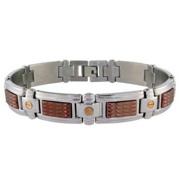 LYNX Stainless Steel Two-Tone Link Bracelet
