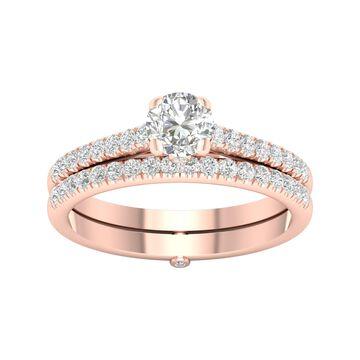 De Couer 5/8ct TDW Diamond Bridal Set - Pink