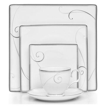 Noritake Platinum Wave Square 40-Piece China Set