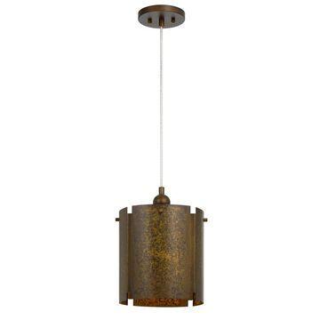 Rochefort Metal Single Light Pendant Gold 2.75
