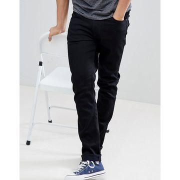 Nudie Jeans Co Lean Dean slim tapered fit jeans in ever black