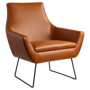 Adesso Polyurethane Upholstered Kendrick Chair In Camel