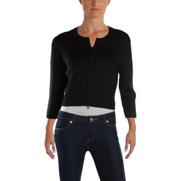 Narciso Rodriguez Womens Cropped Silk Cardigan Top