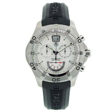 Tag Heuer Men's CAF101B.FT8011 'Aquaracer' Chronograph Black Rubber Watch