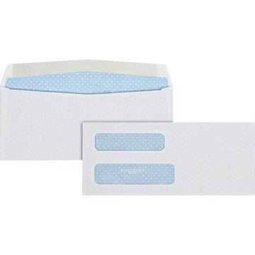 Quality Park Double Window Gum Closure Envelopes, White, 500 / Box (Quantity)