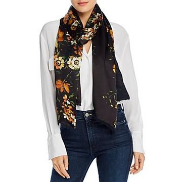 Echo Painterly Floral Silk Scarf