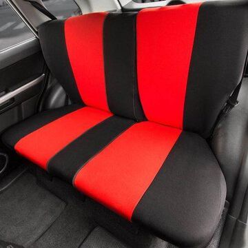 FH GROUP Full Coverage Flat Cloth Rear Set Seat Covers with bonus Air Freshener