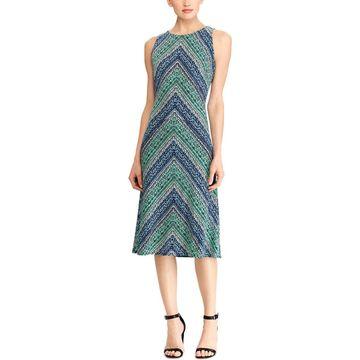 American Living Womens Midi Dress Printed Sleeveless