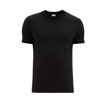 Dolce & Gabbana - Logo-tab Cotton-blend Jersey Pyjama T-shirt - Mens - Black