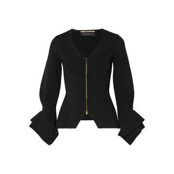 Roland Mouret - Draped Stretch-knit Jacket - Black