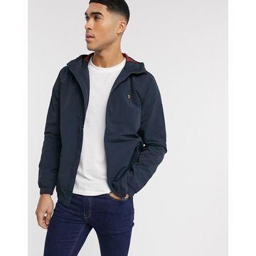 Farah Stones hooded jacket in navy