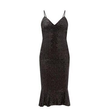 Norma Kamali - Mermaid-hem Sequinned Jersey Dress - Womens - Black