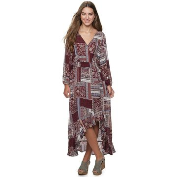 Juniors' American Rag Mixed Surplice Maxi Dress