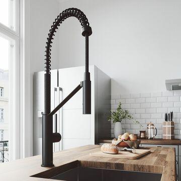 VIGO Livingston Matte Black Magnetic Kitchen Faucet