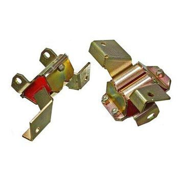 Energy Suspension 66-70 Ford Falcon / 67-72 Ford Mustang Red Motor Mount Set (2 pc set)