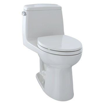 Toto Ultramax Elongated 1-Piece Toilet, Colonial White, MS854114E#11