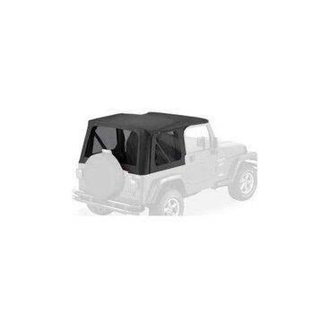 Bestop 79141-35 Jeep Wrangler 2-Door with Tinted Sailcloth Replace-A-Top, Black Diamond