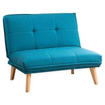 Abbyson Living Dalton Convertible Chair in Teal