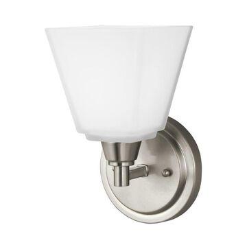 Sea Gull Lighting Parkfield 5.5-in W 1-Light Brushed Nickel Wall Sconce ENERGY STAR | 4113001EN3-962