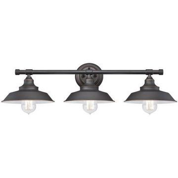 ''Westinghouse 6343400 Iron Hill Three-Light Indoor Wall Fixture, Oil Rubbed Br...''