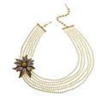 """Heidi Daus """"Holiday Wishes"""" Simulated Pearl Beaded Necklace"""