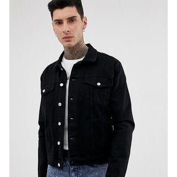 Reclaimed Vintage oversized denim jacket in black
