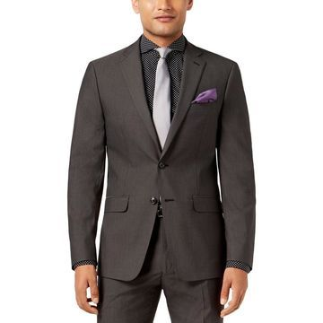 Sean John Mens Two-Button Suit Jacket Slim Fit Business - 40L