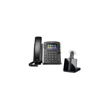 Polycom VVX 411 Plus Plantronics CS540 VVX 411 12-line Desktop Phone with Power Supply