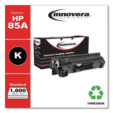Innovera Remanufactured Black Toner Cartridge, Replacement for HP 85A (CE285A), 1,600 Page-Yield -IVRE285A