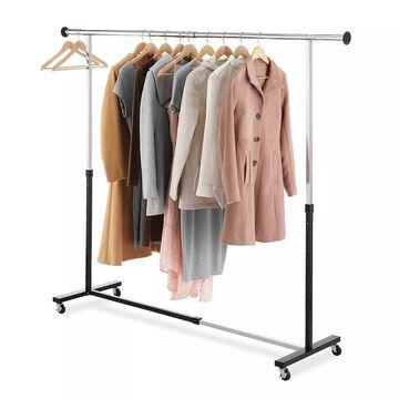 Whitmor Expandable Garment Rack, Black