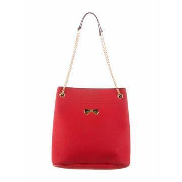 Coated Canvas Shoulder Bag Red