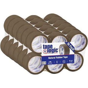 Tape Logic #53 PVC Natural Rubber Tape, 2.1 Mil, 2 x 55 yds, Tan, 36/Case | Quill