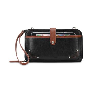 Iris Smartphone Leather Crossbody Wallet