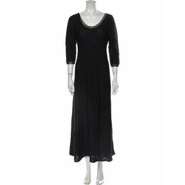 Scoop Neck Long Dress Black