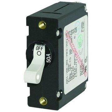 Blue Sea Systems A-Series Black Single Pole Toggle Circuit Breaker