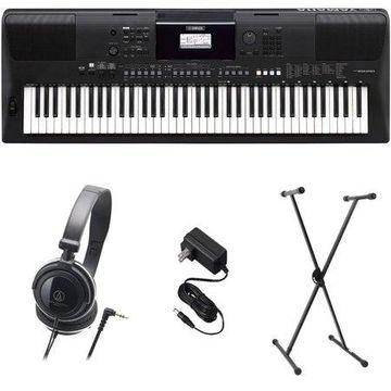 Yamaha PSR-EW410 PKS Premium Keyboard Pack with Power Supply, Stand, and Headphones