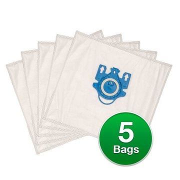 Replacement Type FJM Allergen Plastic Collar Vacuum Bags For Miele Aluminum Champagne