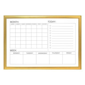 Gold Dry Erase Wall Calendar by Ashland